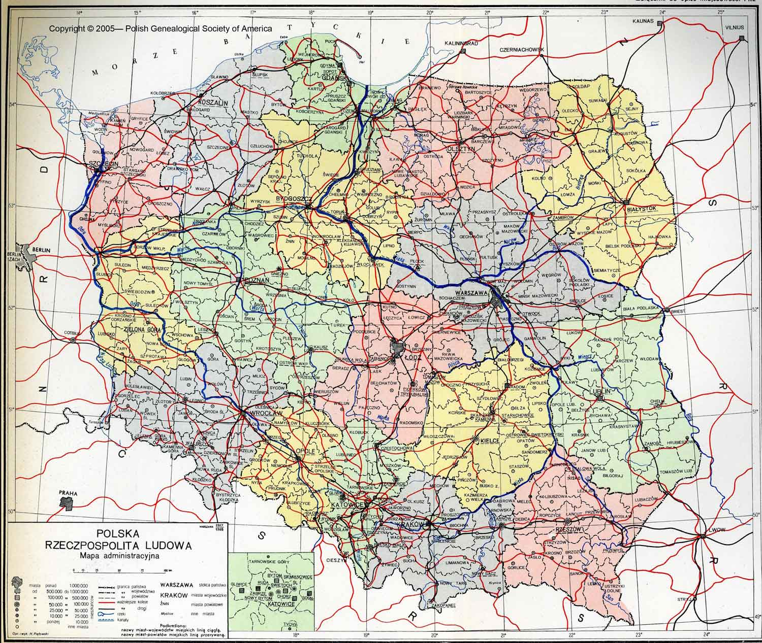 Geography Maps Polish Genealogical Society Of America - Poland map